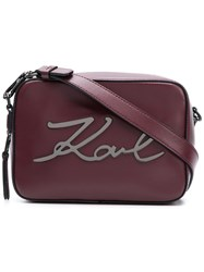 Karl Lagerfeld K Signature Camera Bag Red
