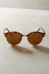 Anthropologie Ray Ban Clubround Sunglasses Brown Motif