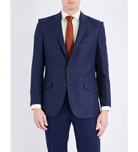 Richard James Regular Fit Linen And Wool Blend Suit Blue