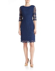 Nue By Shani Lace Overlay Dress Navy