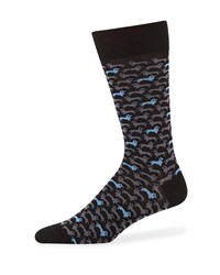 Neiman Marcus Dogs Cotton Socks Black