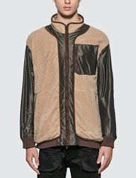 White Mountaineering Gore Tex Infinitum W Stitched Quilted Boa Jacket Beige