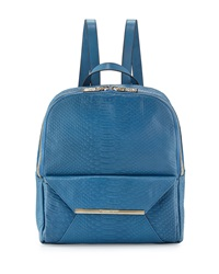 Christian Lacroix Aurora Snake Embossed Backpack Blue