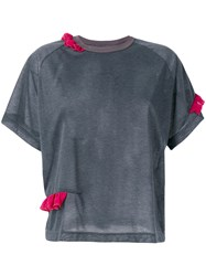 Kolor Round Neck T Shirt Women Polyester 2 Grey