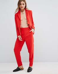 Selected Suit Trousers Co Ord Flame Scarlet Red