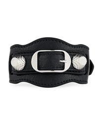 Giant 12 Leather Buckle Bracelet Balenciaga
