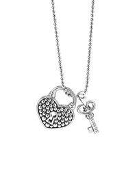 Beloved Heart Lock And Key Pendant Necklace Silver Lagos