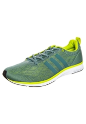 Adidas Performance Adizero Feather Lightweight Running Shoes Vis Green Ses Light Green