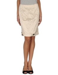 Amaya Arzuaga Knee Length Skirts Ivory
