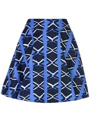 8 Skirts Knee Length Skirts Women Blue