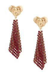 Magda Butrym Crystal Embellished Earrings Red