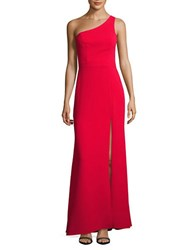 Xscape Evenings One Shoulder A Line Gown Red