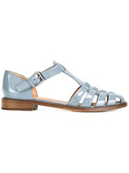 Church's Patent Woven Front Sandals Grey