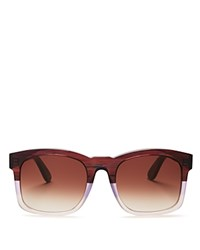 Wildfox Couture Gaudy Square Sunglasses 54Mm Grapevine Brown Gradient