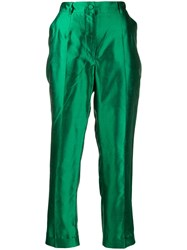 Dolce And Gabbana Cropped Trousers Green