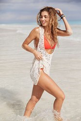 Out From Under Crochet Scoop Neck Beach Cover Up White