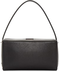 Jil Sander Black Handle Box Clutch