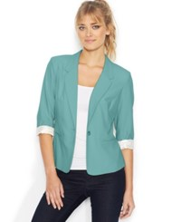 Kensie Three Quarter Sleeve Blazer Light Aqua