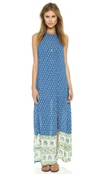 Faithfull Mirror Door Maxi Dress Indigo Paisley Print