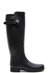 Hunter Original Refined Back Strap Rain Boot Black