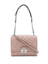 Karl Lagerfeld Quilted Studded Tote Bag Pink