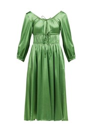 Cult Gaia Winonah Satin Dress Green