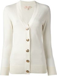 Tory Burch V Neck Cardigan White