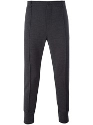 Dolce And Gabbana Central Crease Track Pants Grey