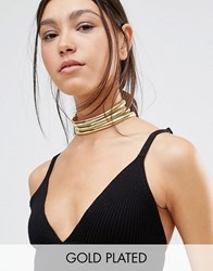 Gogo Philip Gold Plated Vintage Style Layered Choker Necklace Gold