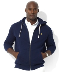 Polo Ralph Lauren Big And Tall Classic Fleece Full Zip Hoodie Cruise Navy