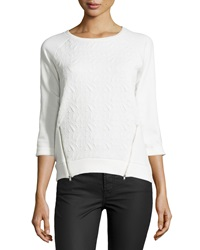 Dex Matelass Double Zip Top Ivory