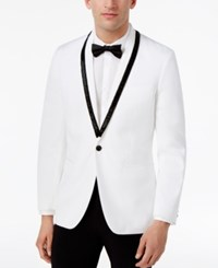 Inc International Concepts Men's Slim Fit Beaded Shawl Collar Blazer Only At Macy's White Pure