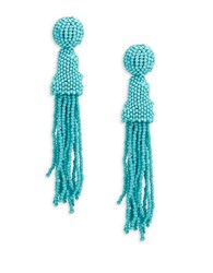 Rj Graziano Beaded Tassel Drop Earrings Turquoise