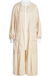 Dkny Lightweight Coat With Hood Beige