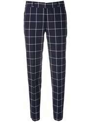 Paul Smith Ps Check Trousers Blue