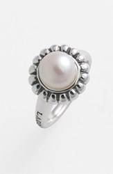 Lagos Women's 'Luna Pearl' Fluted Ring