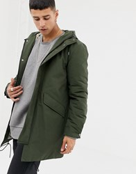 Selected Homme Thinsulate Padded Parka Deep Depths Green