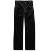 Norse Projects Charcoal Evald Cotton Corduroy Drawstring Trousers Black
