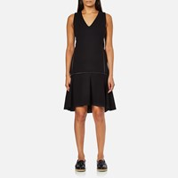 Karl Lagerfeld Women's Punto Dress With Zip Detail Black