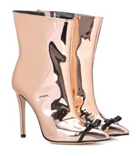 Marco De Vincenzo Mirrored Ankle Boots Metallic