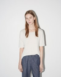 Raquel Allegra Basic Tee Dirty White