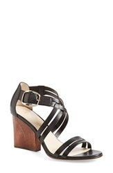 Women's Bettye Muller 'Cubana' Sandal Black Leather