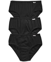 Jockey Elance Cotton Hipster 3 Pack 1488 Black Assorted