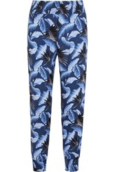 Mikoh Kahuku Printed Crepe Pants Bright Blue