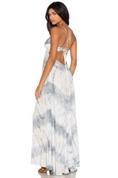 Blue Life Criss Cross Back Maxi Dress Gray