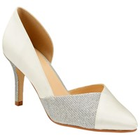 John Lewis Berry Asymmetric Court Shoes Ivory