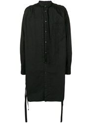 The Viridi Anne Long Shirt Jacket Black