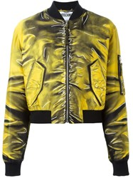 Moschino Trompe L'ail Bomber Yellow And Orange
