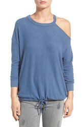 Junior Women's Rvca 'Far Out' One Shoulder Drawstring Pullover
