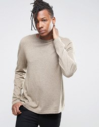 Asos Crew Neck Jumper In Relaxed Fit Faded Taupe Brown